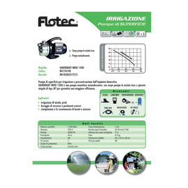 Pompa di superficie FLOTEC Gardenjet inox1500 acque chiare