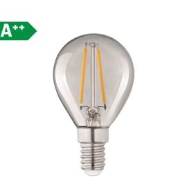 Lampadina Filamento LED E14 sferico bianco tenue 2.8W = 250LM (equiv 25W) 360° LEXMAN