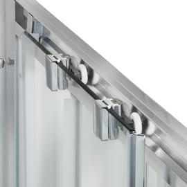 Porta doccia scorrevole Quad 120 cm, H 190 cm in vetro, spessore 6 mm trasparente argento