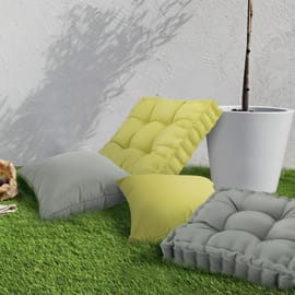 Cuscino dorso Marjorie verde 60x60 cm