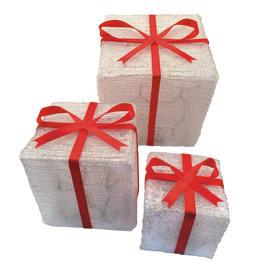 Pacco regalo 72 lampadine bianco freddo H 19.5 cm