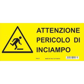 Cartello segnaletico Pericolo inciampo pvc 31 x 14 cm