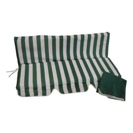 Cuscino bianco e verde 110x130 cm, 2 pezzi