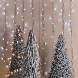 Tenda luminosa 180 lampadine led bianco freddo H 100 x L 200 cm