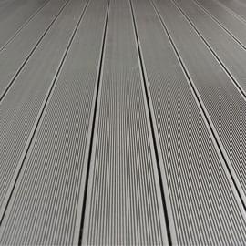 Listone da incastro Kyoto in composito L 220 x H 14.5 cm, Sp 21 mm grigio
