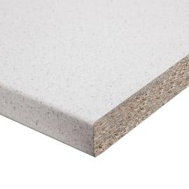 Piano di lavoro in legno bianco cemento L 200 x H 60 cm, spessore 2.5 cm