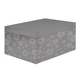 Scatola L 22 x P 32 x H 15 cm grigio