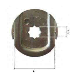 Cuscinetto in acciaio galvanizzato H 45 x L 45mm