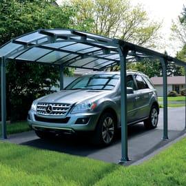 Carport in alluminio Siena  auto L 500 X P 362 X H 242 cm