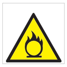 Cartello segnaletico Pericolo incendio vinile 17 x 17 cm