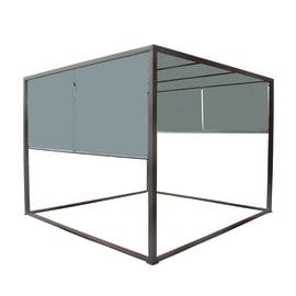 Gazebo da ricevimento in acciaio grigio 287 cm x 2.2 m x 287 cm