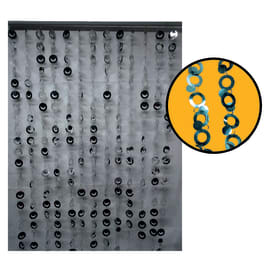 Tenda per porta Eva argento 100x220 cm