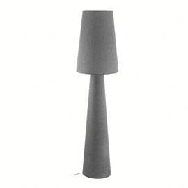Lampada da terra Carpara grigio, in tessuto, H173cm, E27