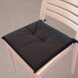 Cuscino per seduta Antimacchia nero 40x40 cm
