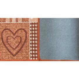Tappeto Cucina antiscivolo Master cuore arancione 130x50 cm
