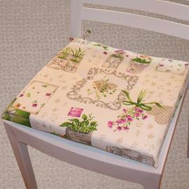 Cuscino per seduta Erbario antimacchia lavanda 40x40 cm
