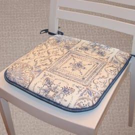 Cuscino per seduta Maiolica blu 40x40 cm