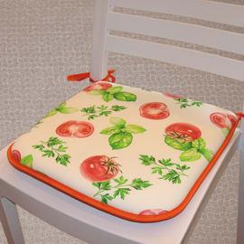 Cuscino per seduta pomodoro rosso e arancione 40x40 cm
