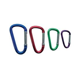 Moschettone con anello in alluminio verniciato , 4 pezzi