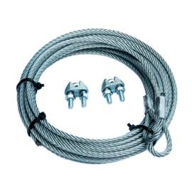 Cavo con gancio ad asola + 2 morsetti per porte basculanti  in acciaio zincato Ø 4 mm x 2.5 m