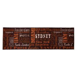 Tappeto Cucina antiscivolo City marrone 100x50 cm
