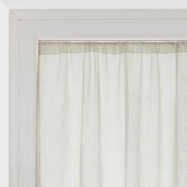 Tendina vetro Astrid bianco tunnel 60x240 cm