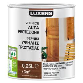 Vernice per legno da esterno liquido LUXENS 0.25 L noce scuro satinato