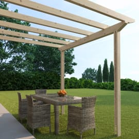 Pergola Eagle in legno marrone L 300 x P 300 x H 268 cm