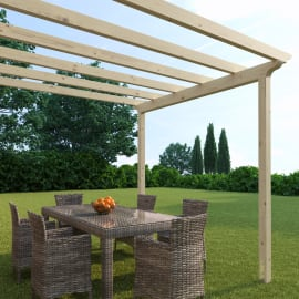 Pergola Flamingo in legno marrone L 300 x P 417.6 x H 268 cm