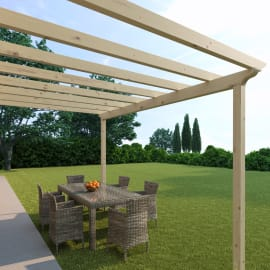 Pergola Flamingo in legno marrone L 417.6 x P 300 x H 268 cm