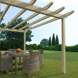 Pergola Eagle in legno marrone L 300 x P 417.6 x H 268 cm