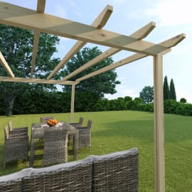Pergola Eagle in legno marrone L 300 x P 594 x H 272 cm