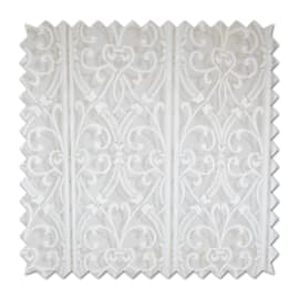 Tendina vetro Araba bianco passanti nascosti 150x250 cm