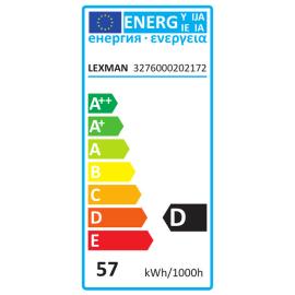 Lampadina Alogena E27 standard giallo 57W = 700LM (equiv 60W) 360° LEXMAN