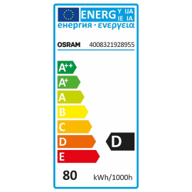 Lampadina Alogena R7S, 78 mm tubo bianco caldo 80W = 1400LM (equiv 80W) 360° OSRAM