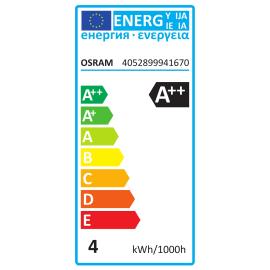 Lampadina Filamento LED E14 sferico bianco caldo 4W = 470LM (equiv 40W) 300° OSRAM