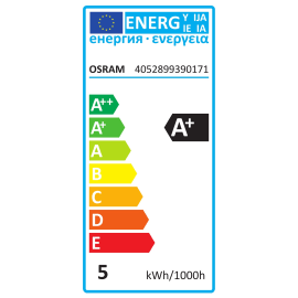 Lampadina LED GU10 riflettore bianco caldo 5W = 350LM (equiv 50W) 36° OSRAM