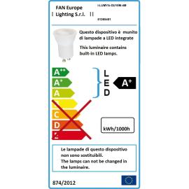 Lampadina LED GU10 riflettore bianco naturale 4W = 280LM (equiv 22W) 60°