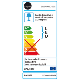Lampadario Banner cromo, in ferro, LED integrato 32W 3200LM IP20 INSPIRE