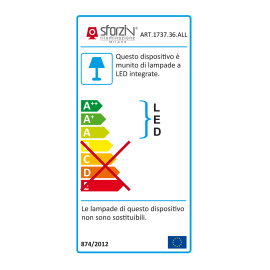 Lampadario Area bianco, in alluminio, LED integrato 60W 4800LM IP20 SFORZIN