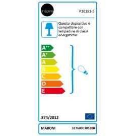 Lampadario Maroni nero, in ferro, E14 5xMAXlampadina non inclusaW IP20 INSPIRE