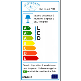 Lampadario Evan tortora, bianco, in vetro, LED integrato 40W 4400LM IP20