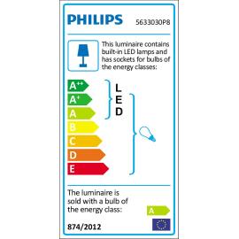 Faretto singolo Pillar nero, in metallo, LED integrato 5.5W 250LM IP20 PHILIPS HUE