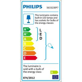 Barra di faretti Pillar nero, in metallo, LED integrato 5.5W 500LM IP20 PHILIPS HUE