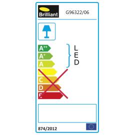 Proiettore LED integrato Dryden in metallo, nero, 20W 1600LM IP65 BRILLIANT