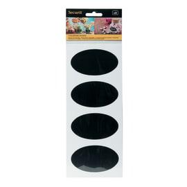 Lavagna per gesso Etichette adesive nero 8x4.7 cm