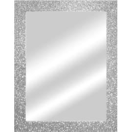 Specchio Glitterato rettangolare argento 60x90 cm