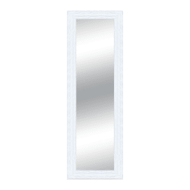 Specchio Teresa rettangolare bianco 50x70 cm