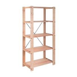 Ikea Scaffali Legno.Scaffali In Legno Grezzo Prezzi E Offerte Online Leroy Merlin