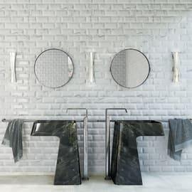 Piastrella per rivestimenti Biselado Carrara L 10 x H 10 cm bianco